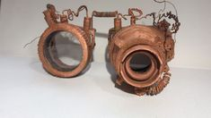 Performance Show Apocalyptic Steampunk Copper Electroformed Goggles by Third Eye Jewelry St. Steampunk Diy, Steampunk Fashion, Steampunk Goggles, Eye Jewelry, Copper Jewelry, Black Tourmaline, Third Eye, Stones And Crystals, Amethyst