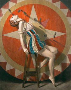 """The Knife Thrower"" Sergio Martinez Cifuentes Dark Circus, Circus Art, Circus Theme, Vintage Circus Performers, Vintage Circus Costume, Vintage Circus Posters, Circus Birthday, The Circus, Circus Acrobat"