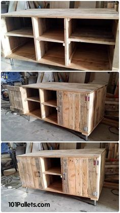 Wood Pallet Media Cabinet / TV Stand | 101 Pallets