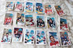 1970 KELLOGG'S 3-D SUPER STARS FOOTBALL CARDS LOT OF 18