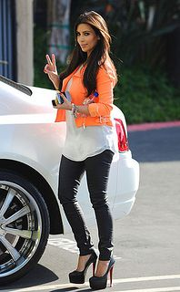 One of the biggest spring 2013 trends is the leather biker jacket worn by popular celebs like Kim Kardashian has become latest fashion symbol in Los Angeles.
