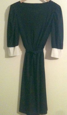 1980\'s Ladies Sheer Dress with Ivory Cuffs by by ForHerEarsOnly