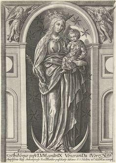 Madonna met kind, Samuel van Hoogstraten, Pierre Firens, 1580 - 1638