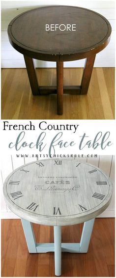 clock face table DIY