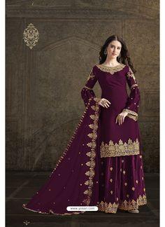 Purple Rangoli Georgette Designer Partywear Suit Wedding Dress Prices, Wedding Dresses For Girls, Party Wear Dresses, Party Dress, Wedding Wear, Pakistani Salwar Kameez, Salwar Dress, Churidar Suits, Pakistani Suits
