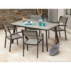 Table de jardin pliante bois et métal Sohan | Tables