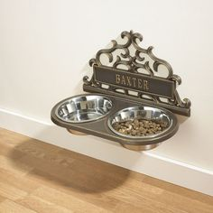 No more moving the bowls to sweep LOVE IT!!!maybe help keep P out of the dog water bowls!