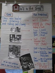 Mrs Jump's class  Who's in the Shed? My FAVORITE book for making predictions in the beginning of the year!