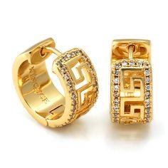 Tiny Stud Earrings, Hoop Earrings, Moissanite Earrings, Greek Key, Rings For Men, White Gold, Bling, Pendants, Sterling Silver
