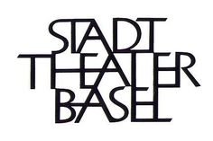 Armin Hoffman, logotype for the Basel Civic Theater, 1954.