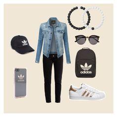 """Adidas"" by hudzshaik on Polyvore featuring Balenciaga, LE3NO, adidas, Illesteva and Lokai"