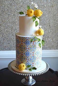 Lemon Wedding Cakes, Italian Wedding Cakes, Pretty Cakes, Beautiful Cakes, Amazing Cakes, Italian Theme, Italian Cake, Wedding Cake Prices, American Cake