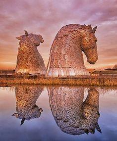 The Kelpies, Huge Sculptures - Scotland