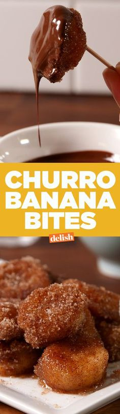 Churro Banana BitesDelish
