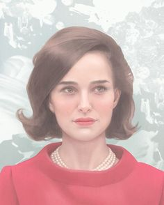 Natalie Portman playing the role of Jackie Kennedy - illustrated by @hsiaoroncheng for @villagevoice JACKIE movie opens next week in the UK on Jan 20th 2017 --- https://www.instagram.com/p/BPLF6PjBTla/