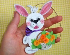 3D Quilling Easter bunny Quilled Easter rabbit Paper bunny Decor of tree Easter Spring decorations Handmade Easter Ornaments Easter Gifts