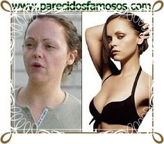 Parecidos con famosos: Christina Ricci  sin maquillaje