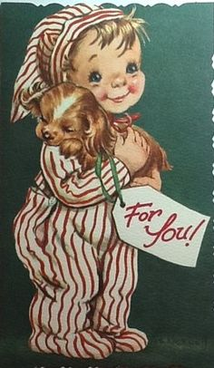 Vintage Christmas Card  → For more, please visit me at…