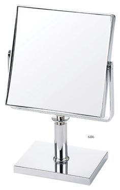 Magnification 15 Cm Wide Square Pedestal Mirror - Chrome by Danielle for sale online Magnifying Mirror, Pedestal, Chrome, Stuff To Buy, Table Mirror, Bathroom Mirrors, Shaving, Home Decor, Vanity