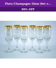 "Flute/Champagne Glass (Set of 6). GS915 Features: -Gold rim accent. -Hand washing recommended. Product Type: -All purpose wine glass. Style: -Traditional. Color: -Clear. Primary Material: -Glass. Glass/Crystal Component: -Yes. Band Included: -Yes. Number of Glasses In Set: -6. Capacity: -9 Fluid Ounces. Glass/Crystal Type: -Beveled. Band Finish: -Gold. Dimensions: Overall Height - Top to Bottom: -6.5"". Overall Width - Side to Side: -3"". Overall Depth - Front to Back: -3"". Overall Product..."