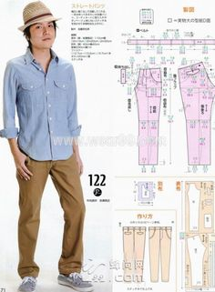 Many kind of free Men's / Boys Pattern