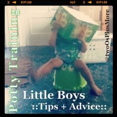 Potty training little boys - tips and advice