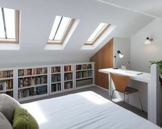 If you are lucky enough to have an attic in your home but haven't used this space for anything more than storage, then it's time to reconsider its use. An attic Attic Bedroom Designs, Attic Bedrooms, Attic Design, Interior Design, Loft Room, Bedroom Loft, Bedroom Decor, Bedroom Ideas, Modern Bedroom