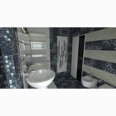 Eclectic bathroom with mosaic tiles by Supergres