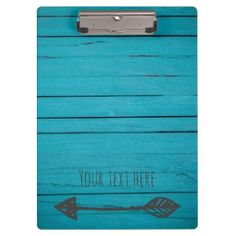 Add your text wood w/ arrow clipboard - wood wedding style nature diy customize personalize marriage