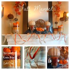 Mantel collage - Fall