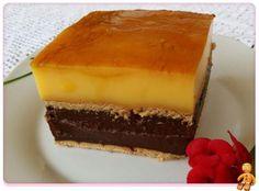 Comparte Recetas - Tarta rápida de flan y galletas