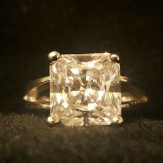 Silver Cz Solitaire Ring -Size 6
