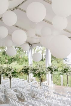 Thao & Alex Palais Royale tent weddings large balloons