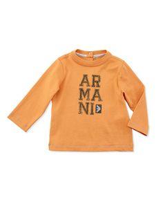 Z19HE Armani Junior Long-Sleeve Jersey Logo Tee, Orange, Sizes 3-24 Months Designer Brands List, Newborn Outfits, Bergdorf Goodman, Baby Design, Neiman Marcus, Branding Design, Infant, Designer Baby, Graphic Sweatshirt