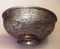 Bowl Persia, 17th century Copper, tin-plated h 11cm, d 26cm