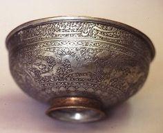 Bowl Persia, 17th century Copper, tin-plated h 11cm, d 26cm