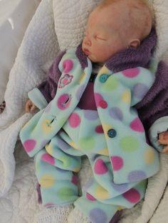Baby Fleece Anzug UNIKAT Gr.  62/68 von                 made by RiAnn   auf DaWanda.com