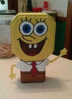 Spongebob brick paver. Isn't he cute?