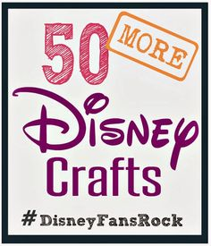 Pinned  10K times! Disney Craft Ideas at Crafting in the Rain...Dress up, food, toys and more!