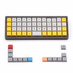 Clothing, Shoes & Accessories Humor Taihaocubic Abs Doubleshot Keycaps For Diy Gaming Mechanical Keyboard Color Of White Beige Pink Cyan Grey High Quality Free Ship Pretty And Colorful