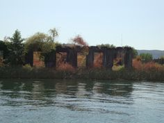 Ruinas del gran terremoto de 1960, en el rio Valdivia