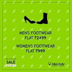 #AllenSolly #EOSS #FootWear