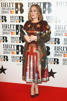 fuckyasadele:  Adele with all of her awards from the tonights 2016 BRIT Awards