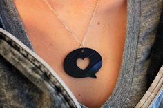 Vinyl Necklace: via the HYPE MACHINE.  Vinyl is always cool. Rocker without being too hardcore.