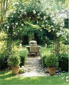 0c84454d1904c0 Arches and pergola-like structures are such an easy addition to any yard. I