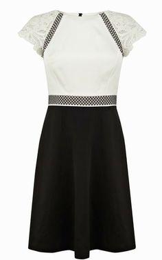 c1488cda09d Karen Millen Black Lace embroidery dress DQ064