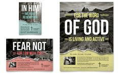 Bible Church Flyer and Ad Design Template by StockLayouts
