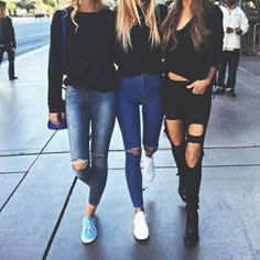 ripped jeans n besties