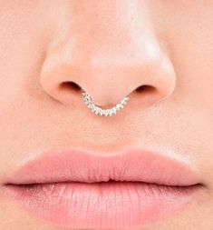 Silver Septum Ring  Hippie Septum Septum jewelry Indian by Alagia
