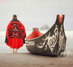 Native Americans - Collections - Google+  Button Blanket - Haida- Tlingit